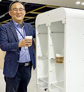 카페·병원 누비며 배달…유진로봇 '무한 진화'